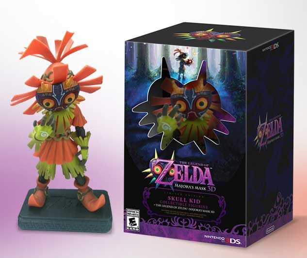 Nintendo Announces The Legend of Zelda: Majora's Mask 3D Limited Edition Bundle with Skull Kid Figurine