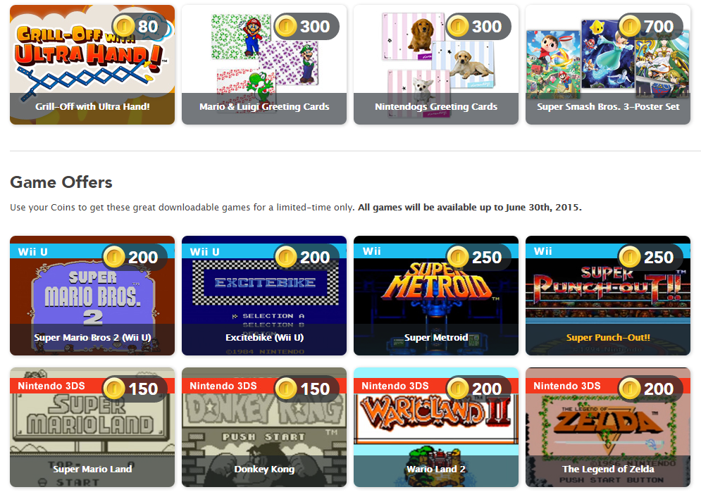 Nintendo Rewards Store